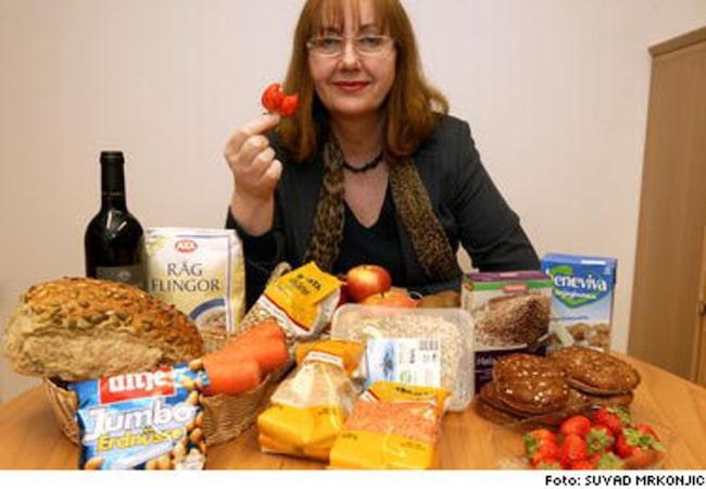 mat som innehåller östrogen