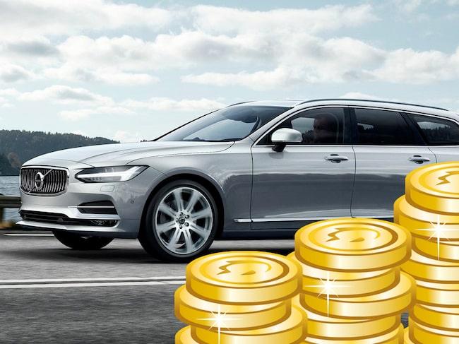 För den som köper Sveriges mest populära bil, Volvo V90, kan det bli dyrt.