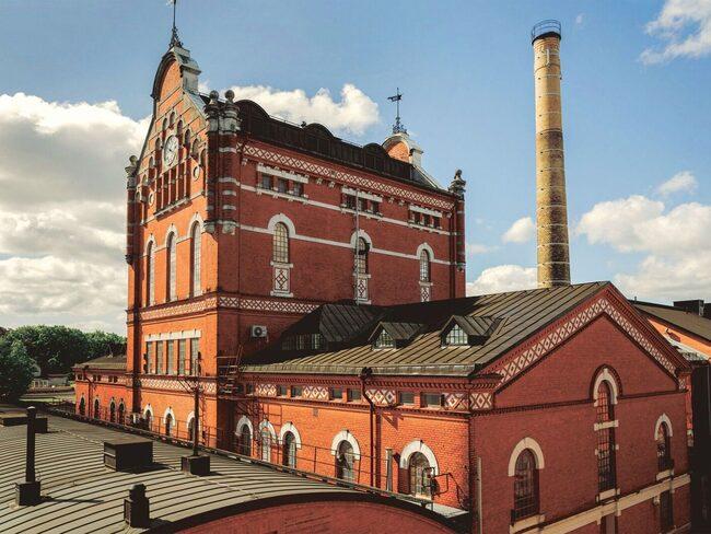 Fabriken i Åhus på Österlen.