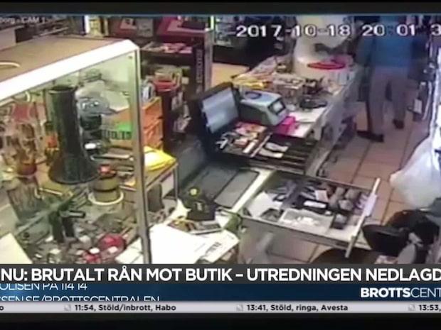 Brutalt rån i butik – 13-årig flicka vittne
