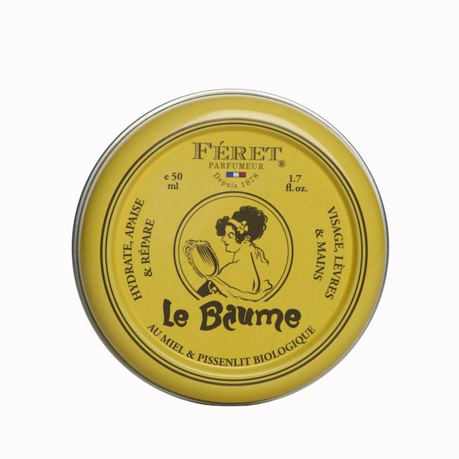 <span>Den här lilla burkens innehåll funkar lika bra för läppar, naglar och fötter – men också för nariga partier på armbågar och knän. Innehåller naturliga ingredienser med en god doft av ros och honung.</span><span>Le Baume, 149 kronor/50 ml, Féret parfumeur, kicks.se</span>