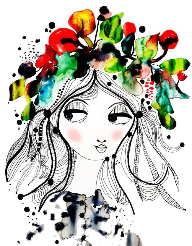 """<span>Midsommarfin! Härliga motivet """"Flower power"""" finns att köpa i LEVA&BO:s webbutik. Klicka på plusset i bilden för att handla.</span>"""