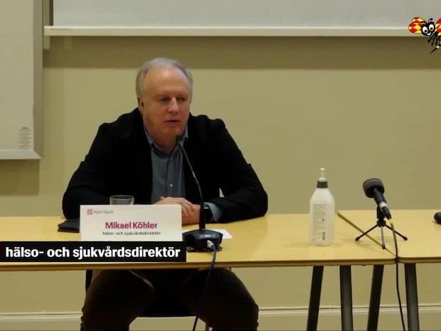 """Uppsalas sjukvårdsdirektör: """"Dementerar vår kollega Anders Tegnell"""""""