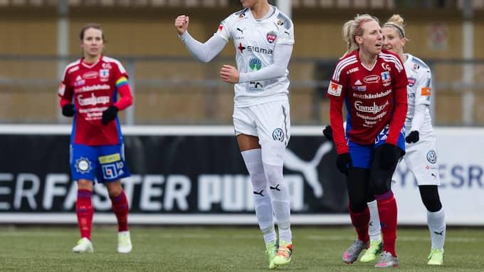 Drömstart för Rosengård och Sanne Troelsgaard . Foto: CHRISTER THORELL/IBL