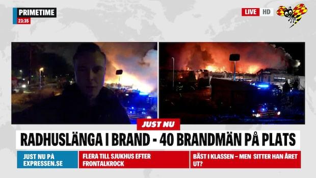 Expressens reporter på plats i Upplands Väsby