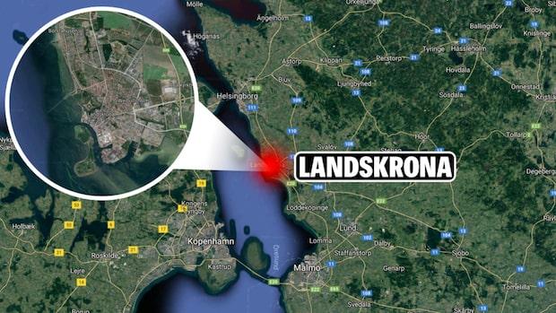 Lastfartyg på grund utanför Landskrona