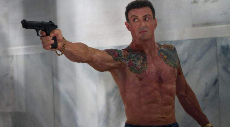 "Sylvester Stallone på en bild från filmen ""Bullet to the head"". Foto: Planet Photos"
