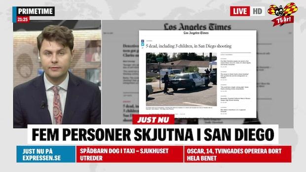 Fem personer skjutna i bostad i San Diego