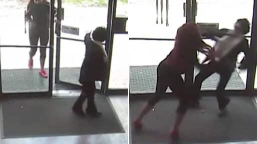 Här attackeras kvinnan. Foto: Kamera One