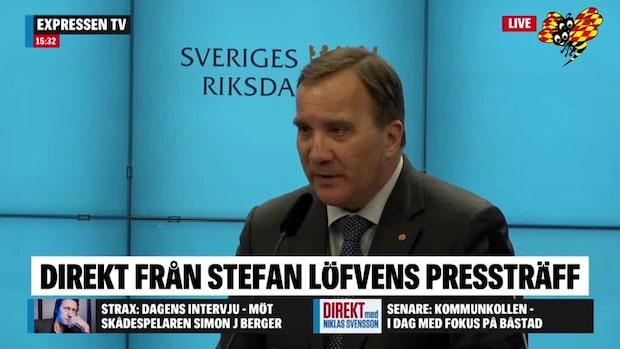 """Stefan Löfven om kritiken: """"Finns ingen logik i det"""""""