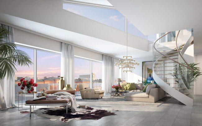 Här byggs Sveriges dyraste lägenhet Vardagsrum Expressen Leva& bo