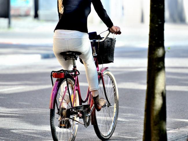 Cykla till jobbet är bra för hälsan.