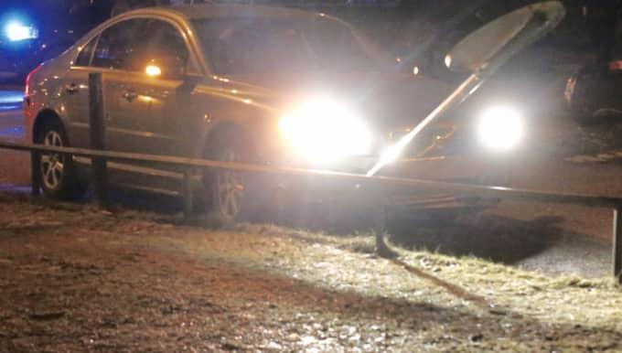 Biljakten tog slut när rånarna krockade med sin bil. Foto: Swepix/Janne Åkesson