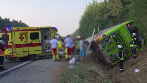 Skadadde svenskar i bussolyckan i Tyskland