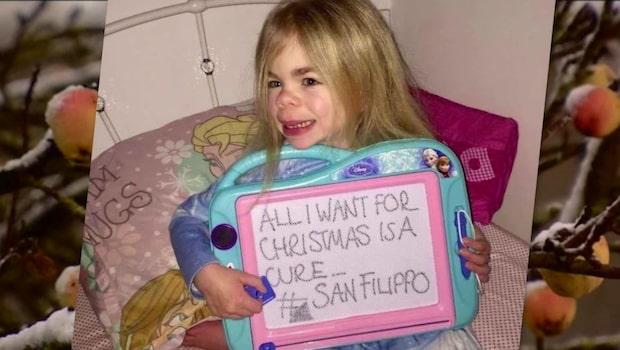 Sophia, 5, har drabbats av alzheimers