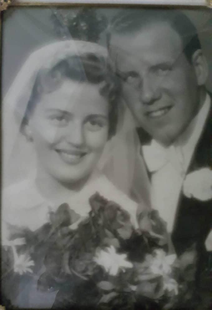 Elvy och Kurt Hysén gifte sig 1957. Foto: PRIVAT