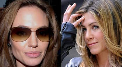 Angelina Jolie och Jennifer Aniston. Foto: All over press / Getty images