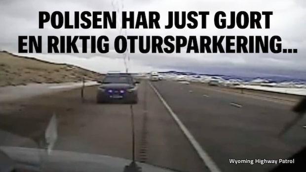 Polisen har just gjort en riktig otursparkering...