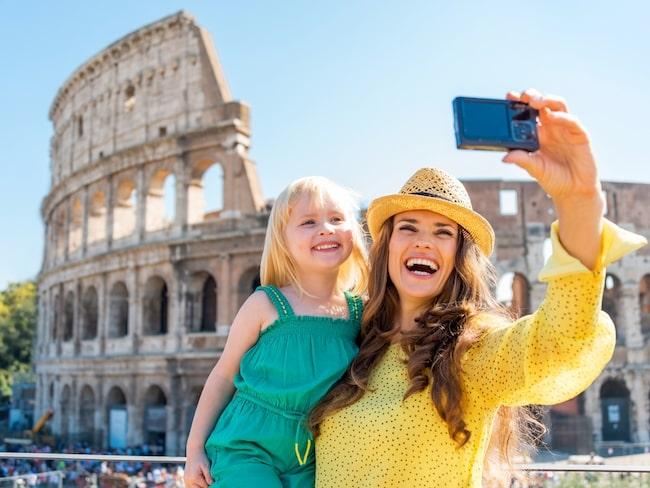 Lagom till att sportlovet infinner sig i Sverige börjar våren nalkas i Rom, Italien.