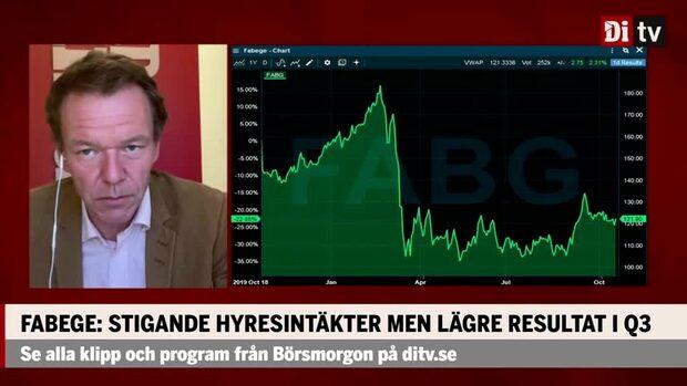 """Ulf Petersson om Fabeges rapport: """"Stabilt i förhållande till aktiekursen"""""""