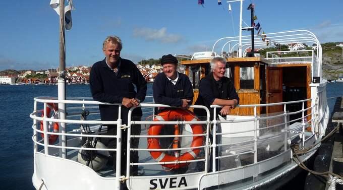 Besättningen på M/S Svea: Harald Treutiger, Dick Andreasson och Roy Thornström. Foto: Anki Raun