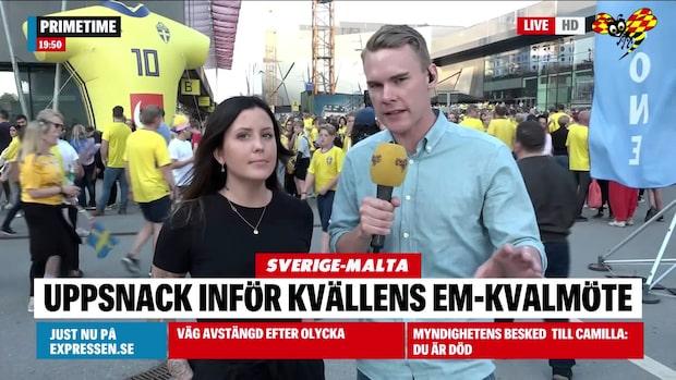 Uppsnacka inför EM-kvalet mellan Sverige och Malta