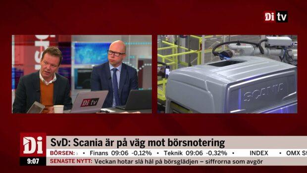 """Möjlig börsnotering – """"Scanias förstaplats är lite skadad"""""""