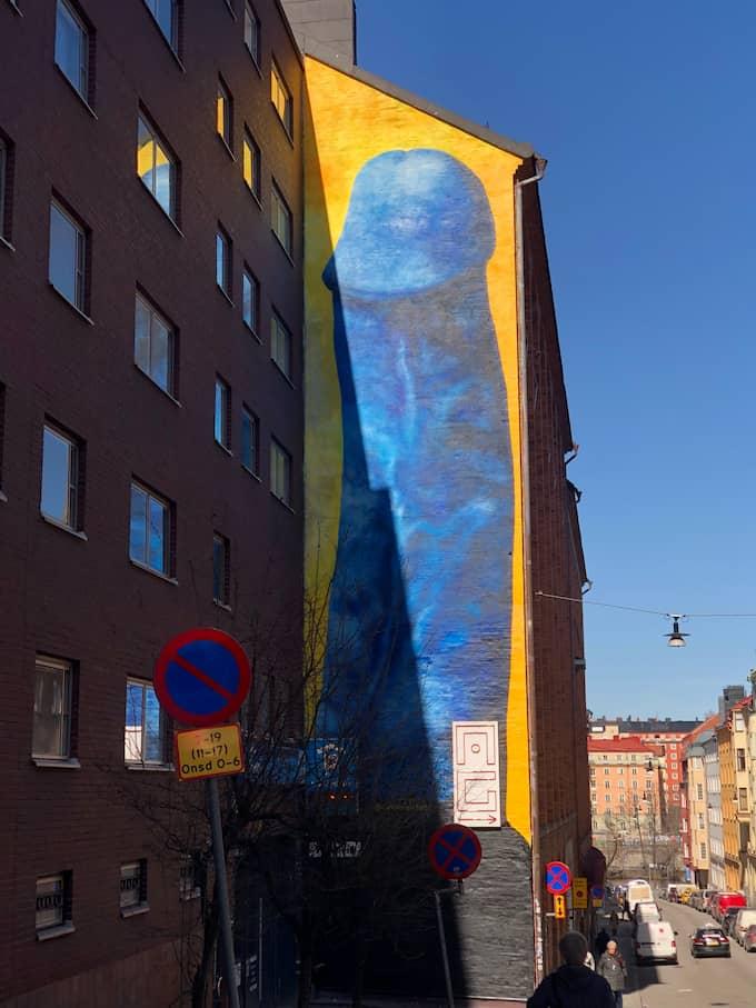 Muralmålingen är på en byggnad på Kronobergsgatan i Stockholm. Foto: Privat