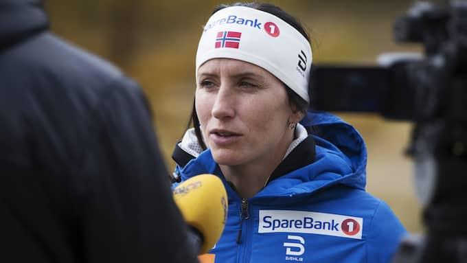 Marit Björgen är en av Kallas rivaler i OS. Foto: NILS PETTER NILSSON