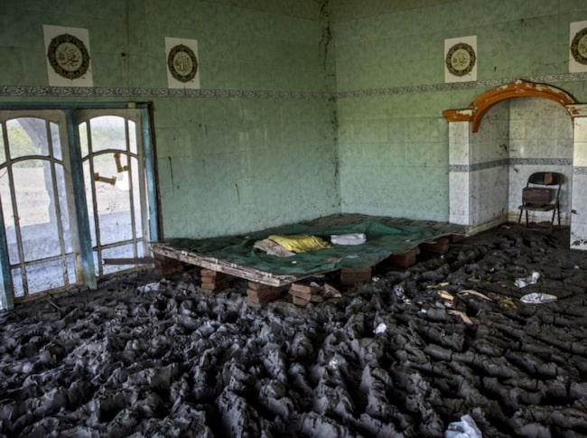 <span>Detta är en bild från en gamal moské.</span>