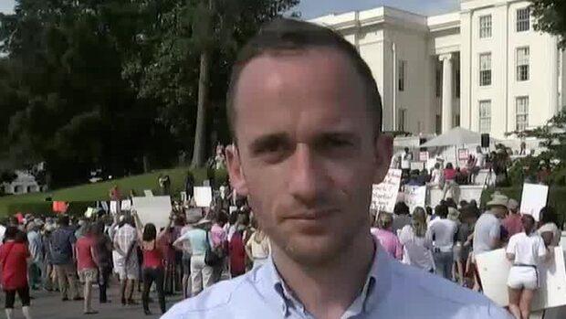 Protester i Alabama mot nya abortlagen