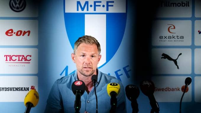Magnus Pehrsson, inte längre Malmö FF:s tränare. Foto: JOHAN NILSSON/TT / TT NYHETSBYRÅN