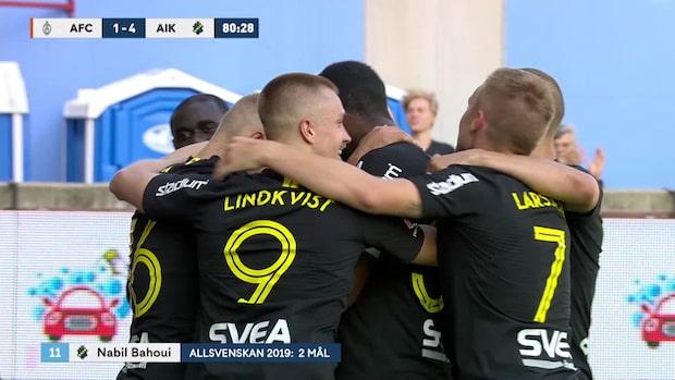 Bahoui tvåmålsskytt för AIK