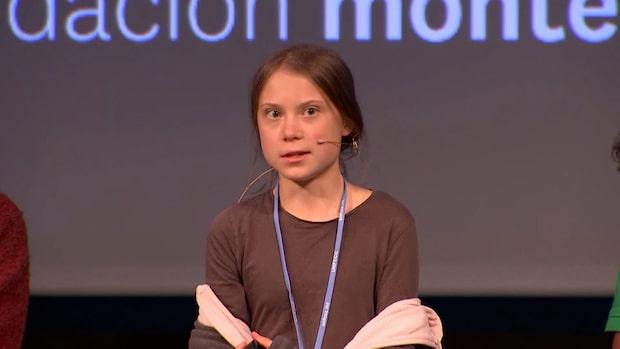 """Greta Thunberg om COP25: """"Hoppas på något konkret"""""""