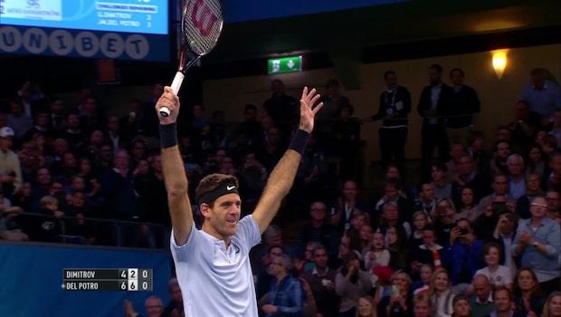 Höjdpunkter: final mellan Dimitrov och del Potro i Stockholm Open