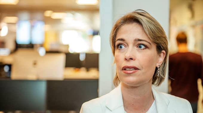 """Socialminister Annika Strandhäll gästar onsdagens """"Bara politik"""" i Expressen TV. Foto: ANNA-KARIN NILSSON"""