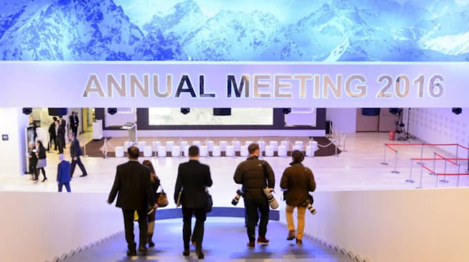 World Economic Forum har just slagit upp portarna i Davos. Foto: Laurent Gillieron / Epa / Tt