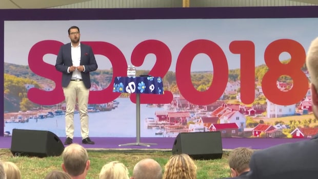 Jimmy Åkesson talade under SD:s dag i Almedalen