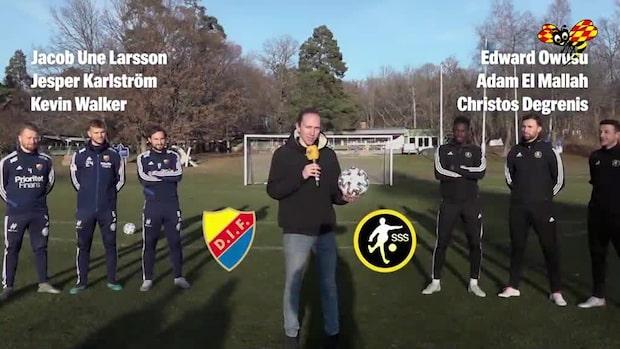 Djurgårdens guldhjältar testar nya EM-bollen