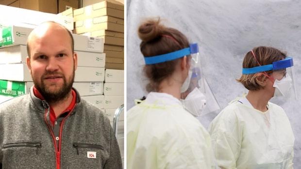 Tobias, 34, skänker en halv miljon till vårdpersonal