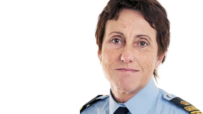 Gunilla Gevreus, polisområdeschef i Fyrbodal. Foto: Polisen