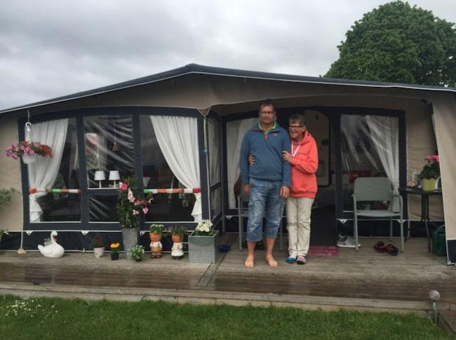 """<span>Anita Westerlund och maken Stig Karlsson är """"långliggare"""" på Gränna camping.<br></span>"""