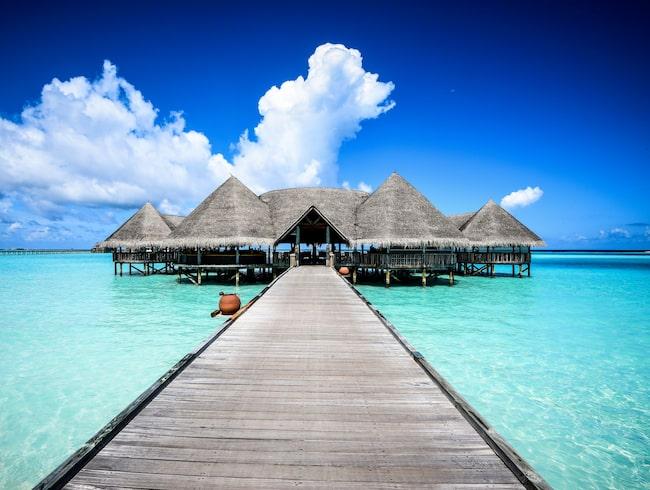 Resorten Gili Lankanfushi förstördes natten till torsdag.