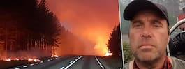Marco körde rakt mot  brandinfernot i Ljusdal