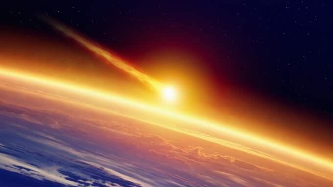 En stor asteroid närmar sig jorden. Bilden föreställer en annan asteroid. Foto: Igor Zhuravlov