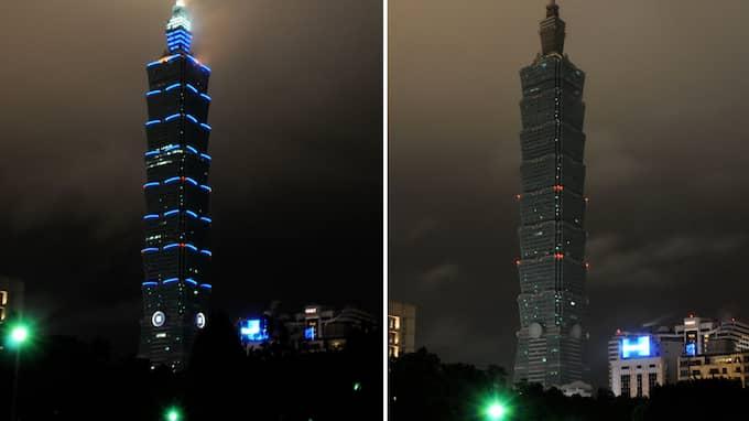 Världens första skyskrapa, Taipei 101 i Taiwan, nedsläckt 2009. Foto: LI JIAN / STELLA PICTURES XINHUA/PHOTOSHOT