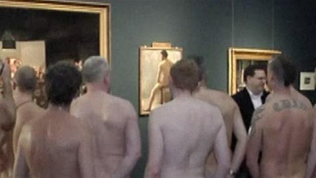 Nakna män såg nakenkonst