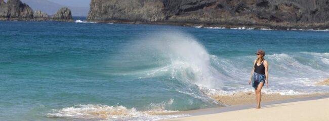 LA GRACIOSA. Ta det försiktigt på Playa de las Conchas. Här finns varken badvakt eller mobiltäckning.