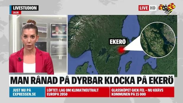 En man har rånats på dyrbar klocka på Ekerö