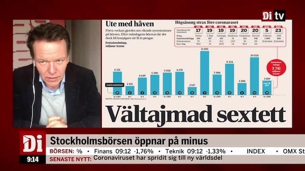 Petersson: Tajmade nyemissioner för miljarder